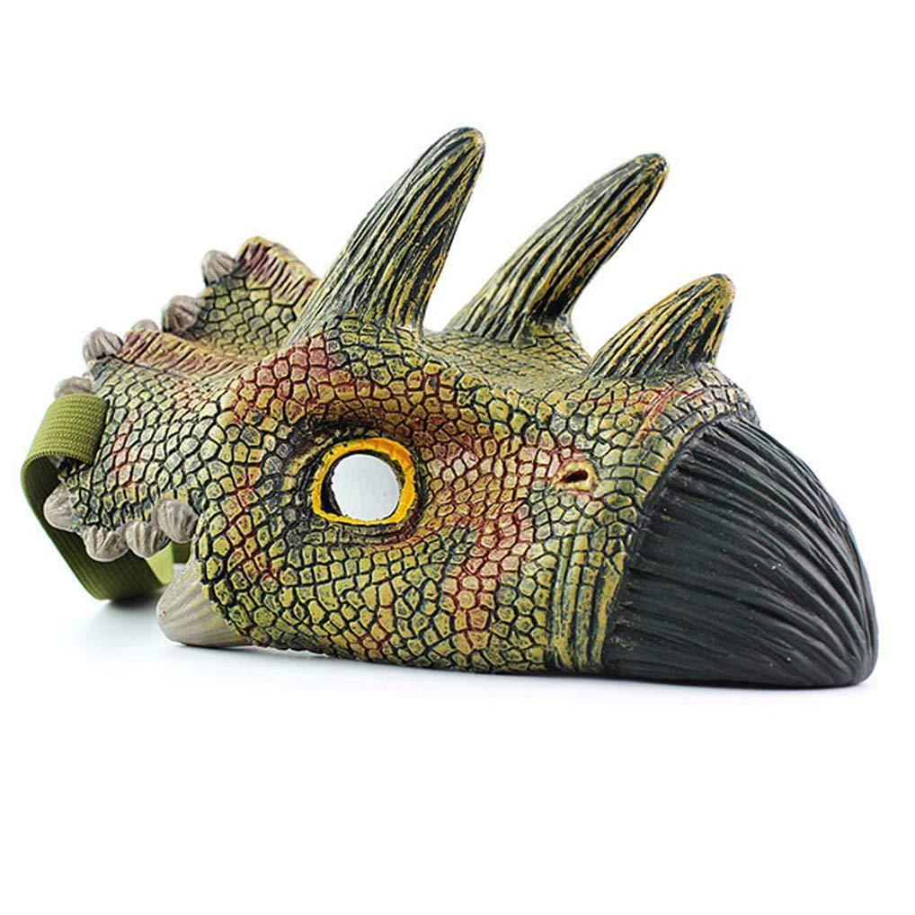 Triceratops Wenosda Dinosaur Mask Dinosaurs Face Masks Dragon/Eye Masks Eyemask for Children Dress-Up Masquerade Cosplay School Play Zoo-Themed Party