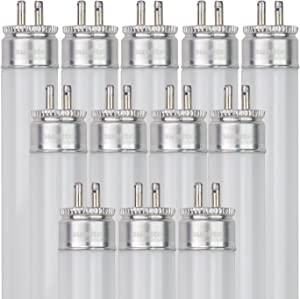 Sunlite F54T5/841/HO/12PK T5 High Output Performance Mini Bi-Pin (G5) Base Straight Tube Light Bulb (12 Pack), 54W/4100K...