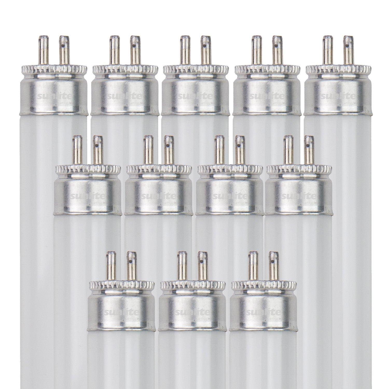 10-Pack Black Light Sunlite F4T5//BL 4-Watt T5 Linear Fluorescent Light Bulb Mini Bi Pin Base