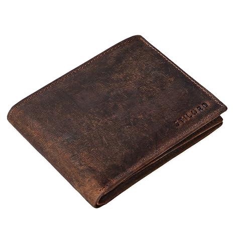 9eb8f3a2a9 STILORD 'Emmett' Portafogli da uomo in vera pelle stile vintage Portafoglio  con portamonete grande