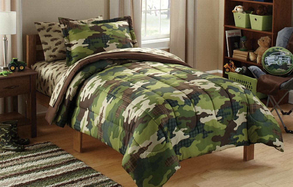 Amazon Mainstays Kids Camoflauge Coordinated Bedding Set Home Kitchen