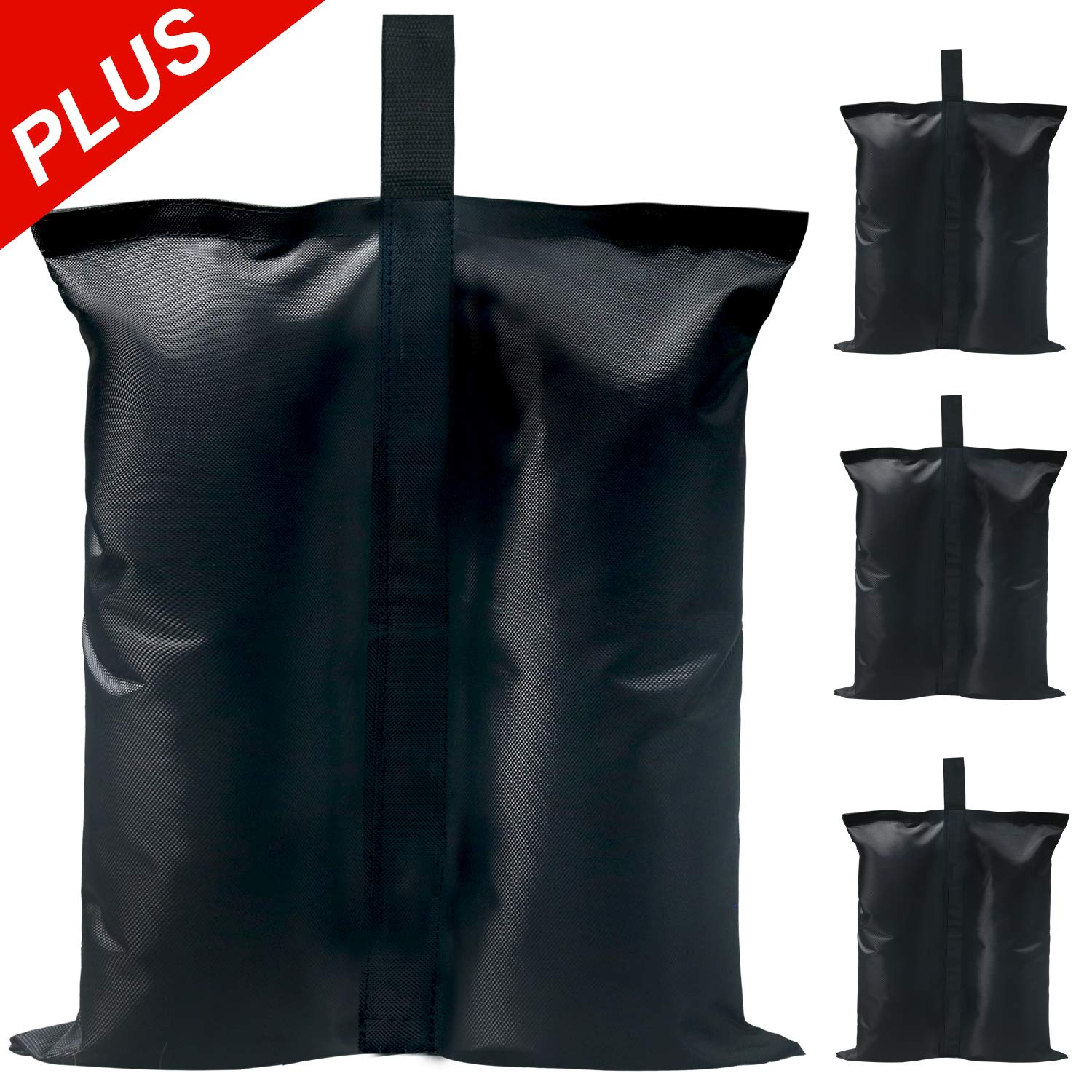 ABCCANOPY Industrial Grade Canopy Weights Bag Leg Weights for Pop up Canopy, Instant Outdoor Shelter (Black-Plus)