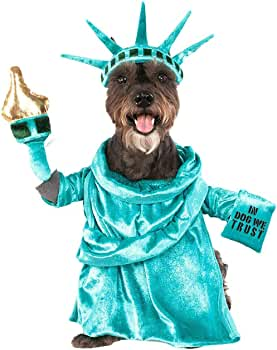 Disfraz para perro de la Estatua de la Libertad de América - Multi ...