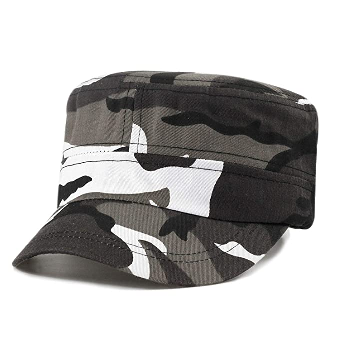 e1fc62604be3a New Camouflage Military Cap Flat Hats Man Woman Vintage camo Army Trucker  Solid dad hat Men s Cap at Amazon Women s Clothing store