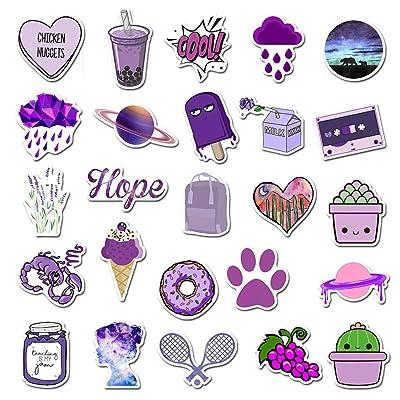 50 Pcs Trendy VSCO Stickers Pack Pink Purple, Colorful Cute VSCO Stickers Animal Cartoon Stickers for Laptop Phone Luggage Skateboard Phone, Waterproof Vinyl Decals, VSCO Girl Stuff (AZ049-purple): GPS & Navigation [5Bkhe2001363]