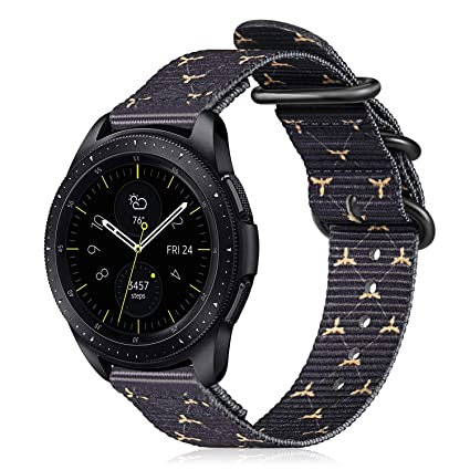 Fintie Correa para Samsung Galaxy Watch Active2/Galaxy Watch Active/Galaxy Watch 42mm/Gear Sport/Gear S2 Classic - 20mm Pulsera de Repuesto de Nylon ...