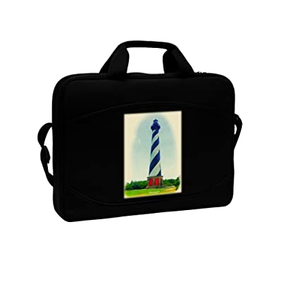 "TooLoud Watercolor Lighthouse 1 15"" Dark Laptop / Tablet Case Bag low-cost"