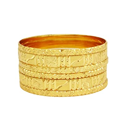 Jewelry & Watches 18k Goldplated Ethnic Bollywood 6pc Bangle Set Indian Women Bracelet Jewellery Bridal & Wedding Party Jewelry