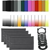 Neewer® 24 Morceaux Carrés Complet Gradué Kit de Filtre pour Cokin Série P Kit Comprend: (16) Filtres de Couleurs Graduées (bleu orange brun rose rouge vert jaune violet G.Blue G. orange G.Brown G.Pink G.Red G.Green G.Yellow G.Purple) + (4) ND Filtres (ND2, ND4, ND8, ND16) + (3) Filtres ND (G.ND2 G.ND4 G.ND8) + (1) Sunset Filtre + (1) Porte-filtre + (9) Bague d'adaptation (49/52/55/58/62/67/72/77 / 82MM) + (4) Sac de Filtre