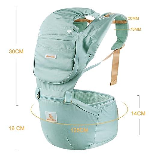 Happy Walk 6 en 1 Convertible Baby & Child Carrier con Asiento de Cadera / mochilas portabebes ergonómico Diseñado / Manos Libres para Todas las Estaciones ...