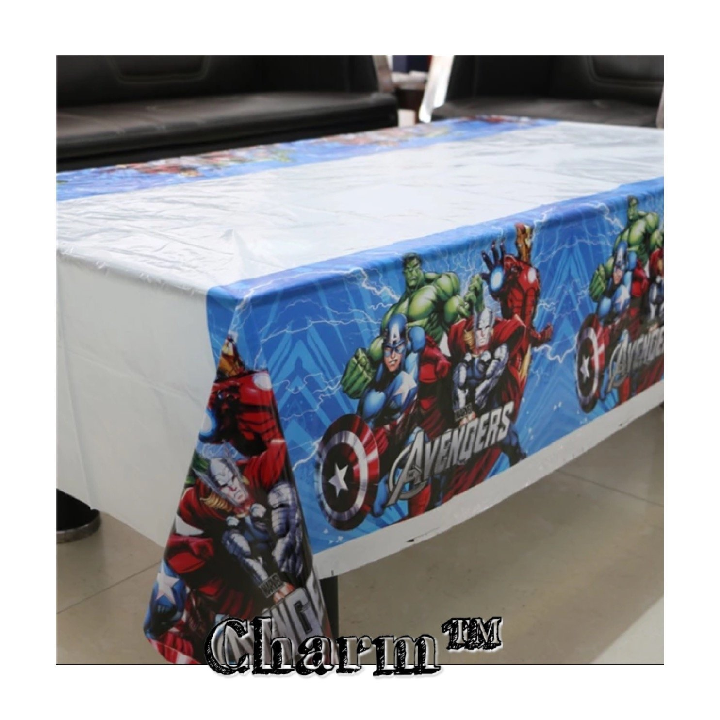 CharmTM Set of 2 Tablecloths AV Party Tablecloths Plastic 42'' X 70'' Party Decorations and Supplies by by CharmTM