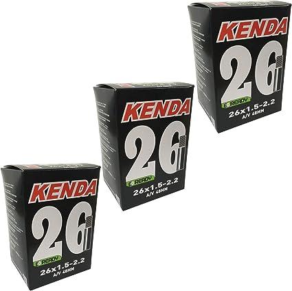 2 X Kenda Mountain Bike Inner Tubes 26 X 1.5//2.2 Schrader Long