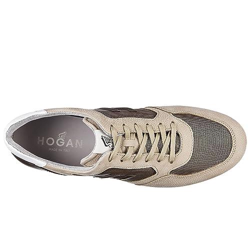 Hogan Scarpe Sneakers Uomo in Pelle Nuove h205 Olympia h 3D Beige ... 8131771aaa3