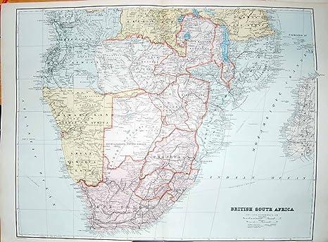 Carte Afrique Anglais.Espoir De Cap Des Anglais Afrique Du Sud De La Carte 1904 De