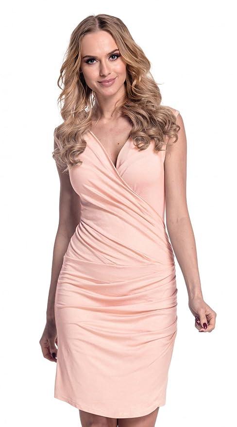 Glamour Empire Para Mujer. Vestido ajustado con detalle fruncido. 045: Amazon.es: Ropa y accesorios