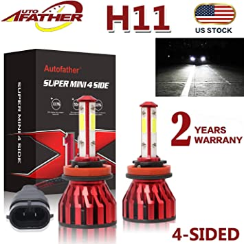 High Quality H11 H8 H9 Cree LED 100W 8 SMD Fog Xenon White Light Bulb Lamps 2pcs