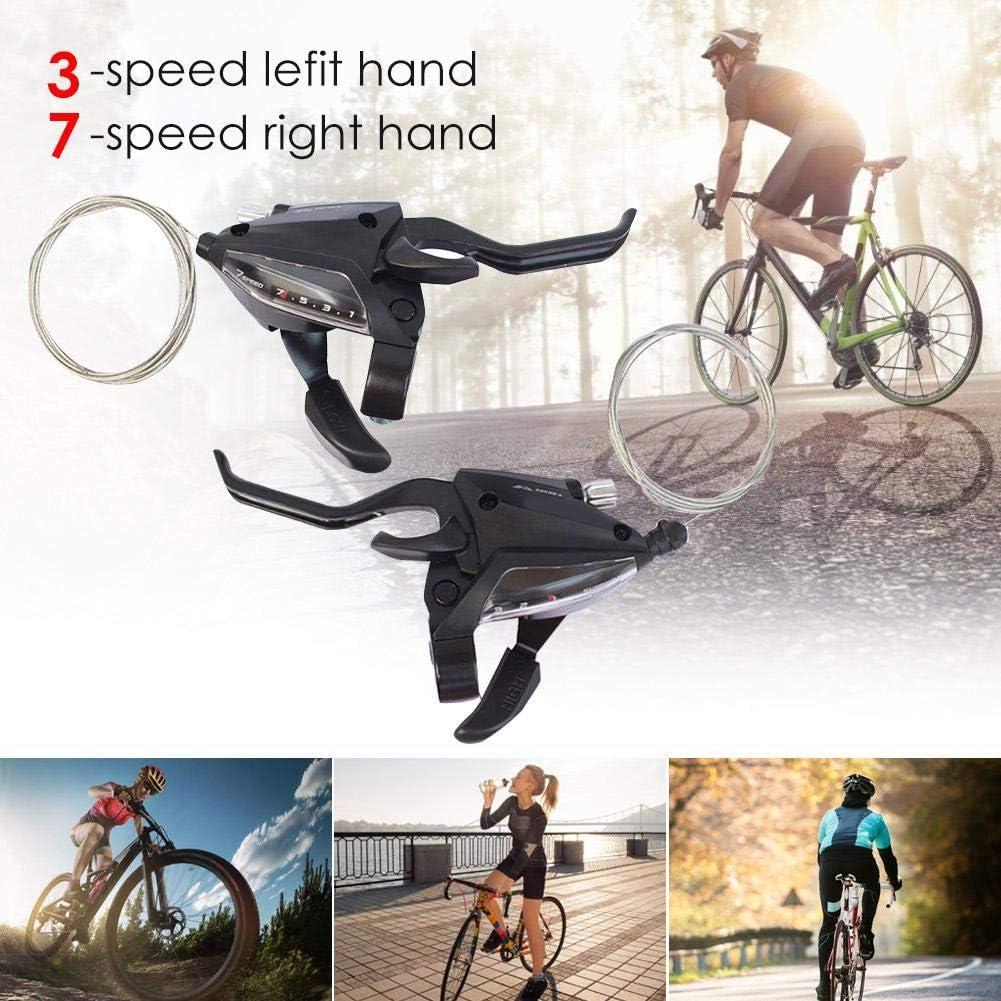 Accessori per Bici Cambio velocit/à in Lega di Alluminio 3x7 Leva di velocit/à V-Brake ST EF500 Set Leva Freno per Mountain Bike