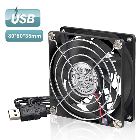 ELUTENG 80mm Fan USB Computer Fan 5V 2700RPM Cooling Fan 8cm Cabinet USB  Mini Fan For