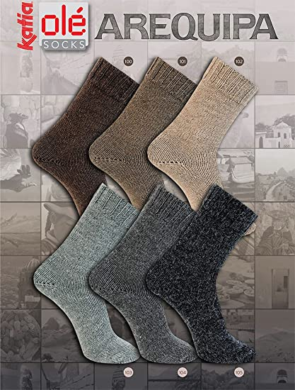 Katia Arequipa calcetines viejos color 104 mid gris 60% lana, 20% Alpaca,