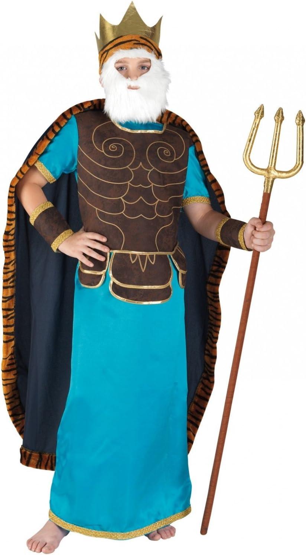 chiber Disfraces Disfraz de Poseidón para Niño (Talla 10): Amazon ...
