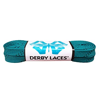 Derby Laces Teal 72 Inch Waxed Skate Lace for Roller Derby, Hockey and Ice Skates, and Boots : Sports & Outdoors
