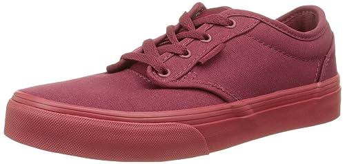 Vans Atwood - Zapatillas Niños, Rojo (Check Liner/Burgundy/Red), 38