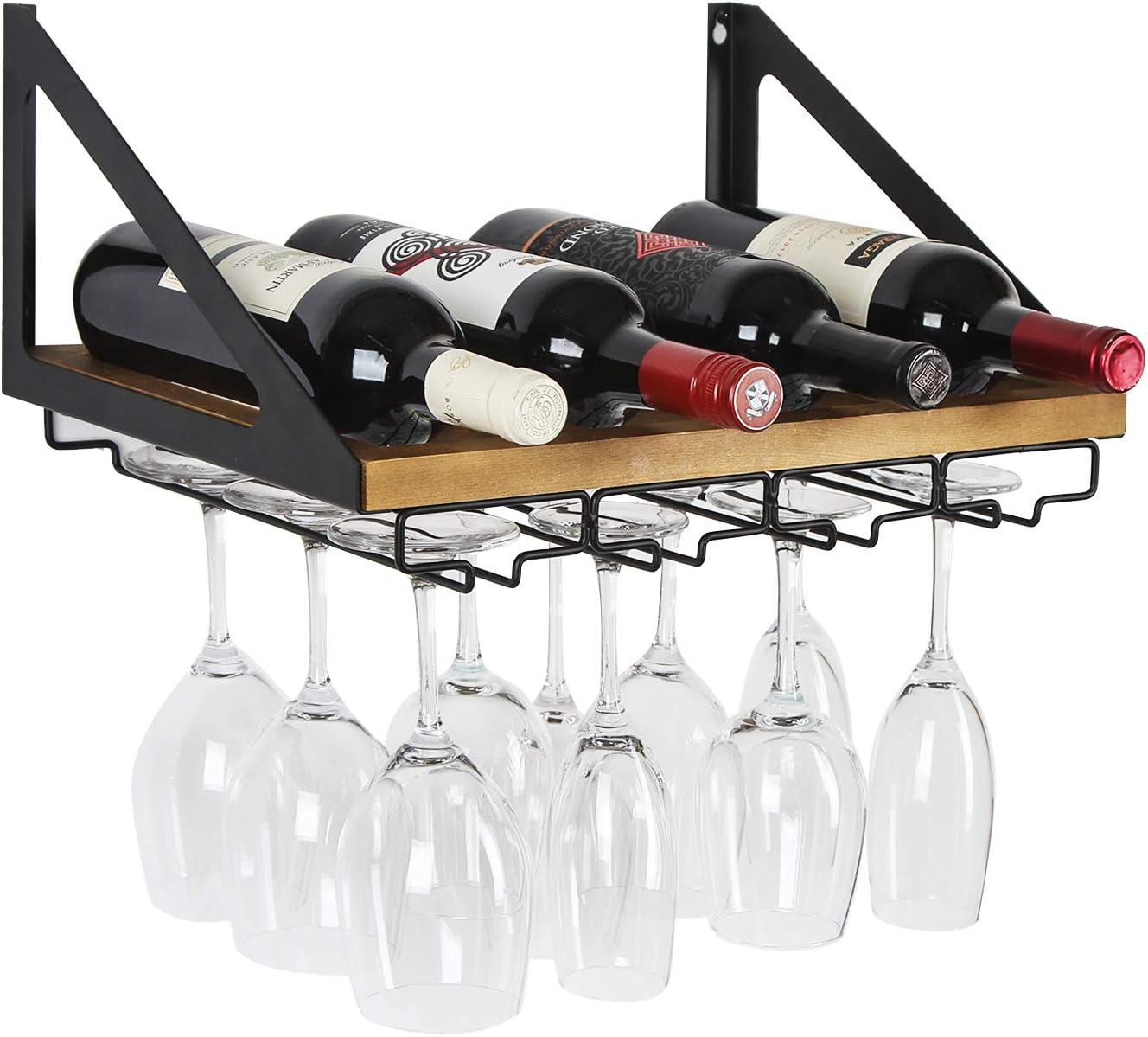 Glass Holder Bottle Hanging Type Home Decorations Metal Bracket Wine Rack Bar UK