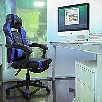 Fixkit Silla Oficina, Silla Oficina Ergonomica- Negro/Blanco