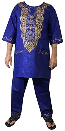 e47c83d69 Amazon.com: Decoraapparel african clothing attire mens ethnic pants suits  traditional brocade wedding festival hippie dashiki style: Clothing