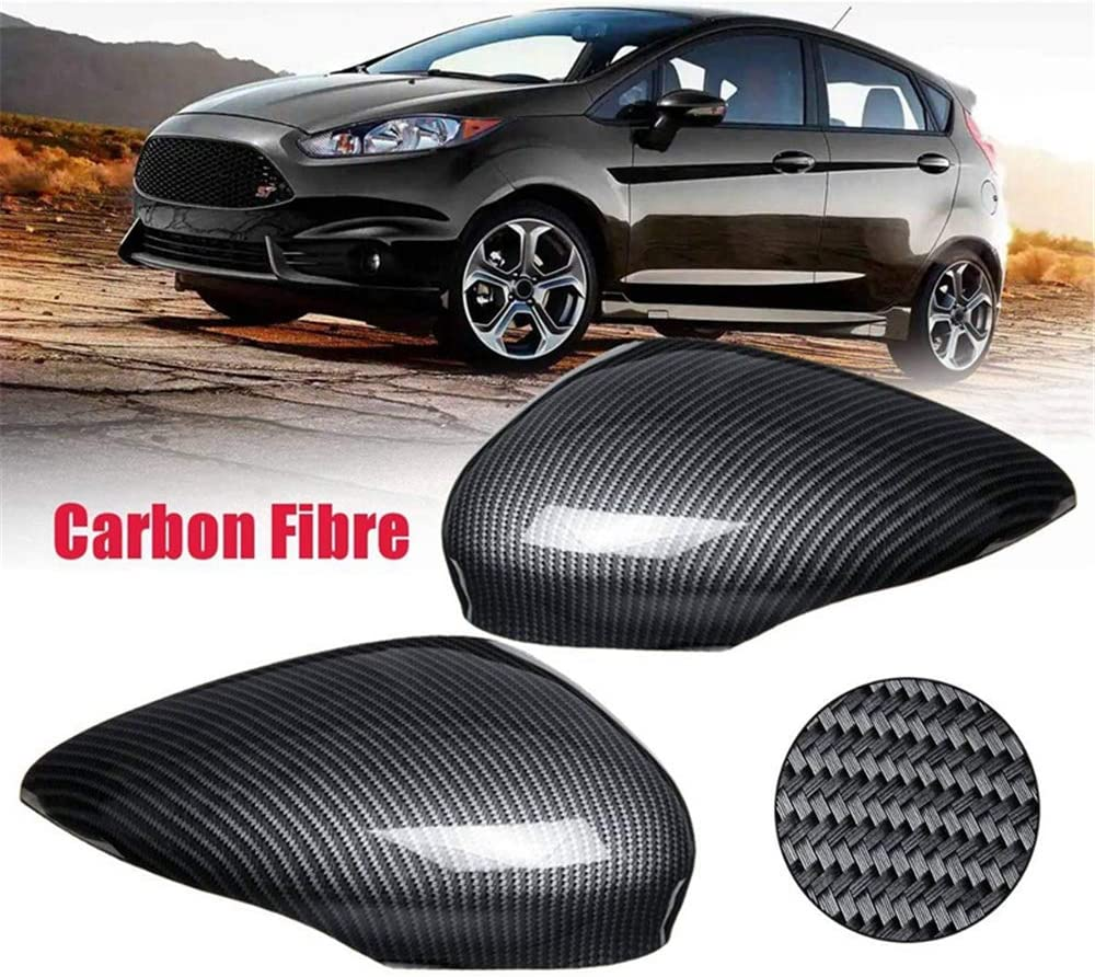pour Ford Fiesta Mk7 2008 2009 2010 2011 2012 2013 2014 2015 2016 BANIKOP Couverture de r/étroviseur en Fibre de Carbone Vue arri/ère Aile de Voiture
