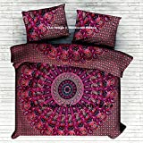 New Exclusive Range of Queen Size 100% Cotton Paisley Mandala Duvet Cover Set With Pillow Covers By ''Handicraftspalace'', Indian Reversible Duvet Quilt Cover Coverlet Bohemian Doona Cover