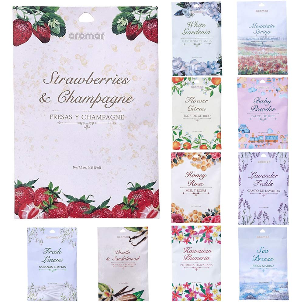 10 Scented Fragrance Sachet Pouch Air Freshener Wardrobe Home Drawer Perfume Bag by AllTopBargains (Image #3)