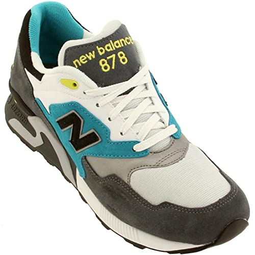 super popular 81f22 bcc6c Amazon.com | New Balance Men 878 90s Running (White/Gray ...