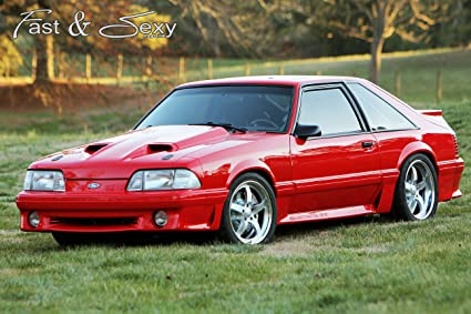 Fox Body Mustang >> Amazon Com Fast Sexy Inc 1993 Ford Mustang Gt Fox Body Poster