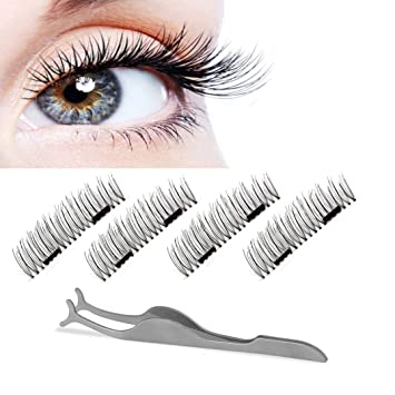 3988af48521 Dual Magnetic False Eyelashes -ChANgly No Glue,Natural Handmade Extension  Fake Eye Lashes,