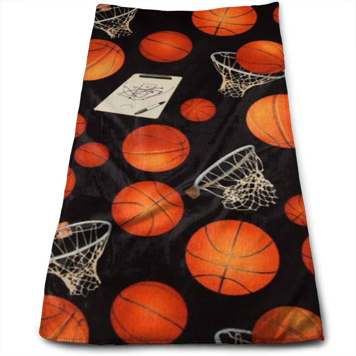 Baloncesto y Marco de Baloncesto Toalla de Mano Grande de algodón ...