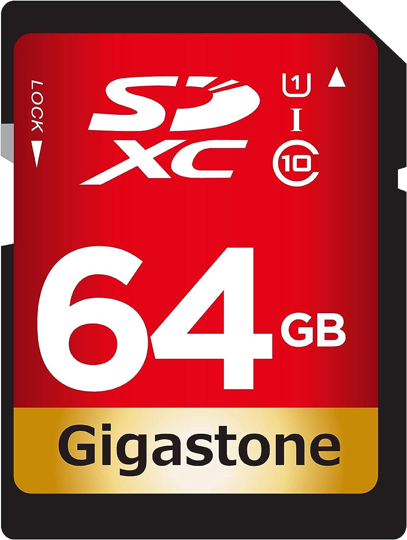 Gigastone 64GB SD Card UHS-I U1 Class 10 SDXC Memory Card High Speed Full HD Video Canon Nikon Sony Pentax Kodak Olympus Panasonic Digital Camera