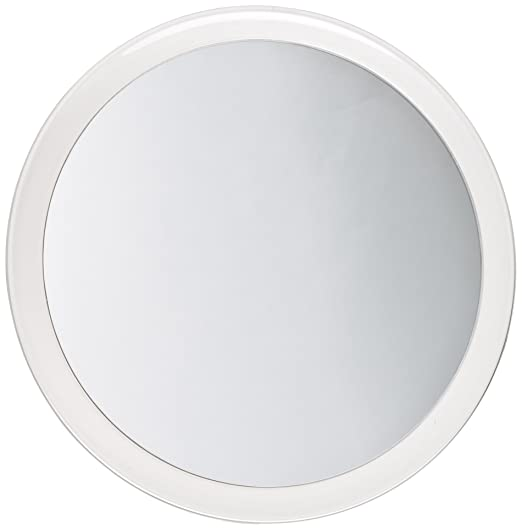 Jerdon JSC5 9-Inch Portable Suction Mirror with 5x Magnification and Vinyl Travel Case, Chrome and Acrylic Finish