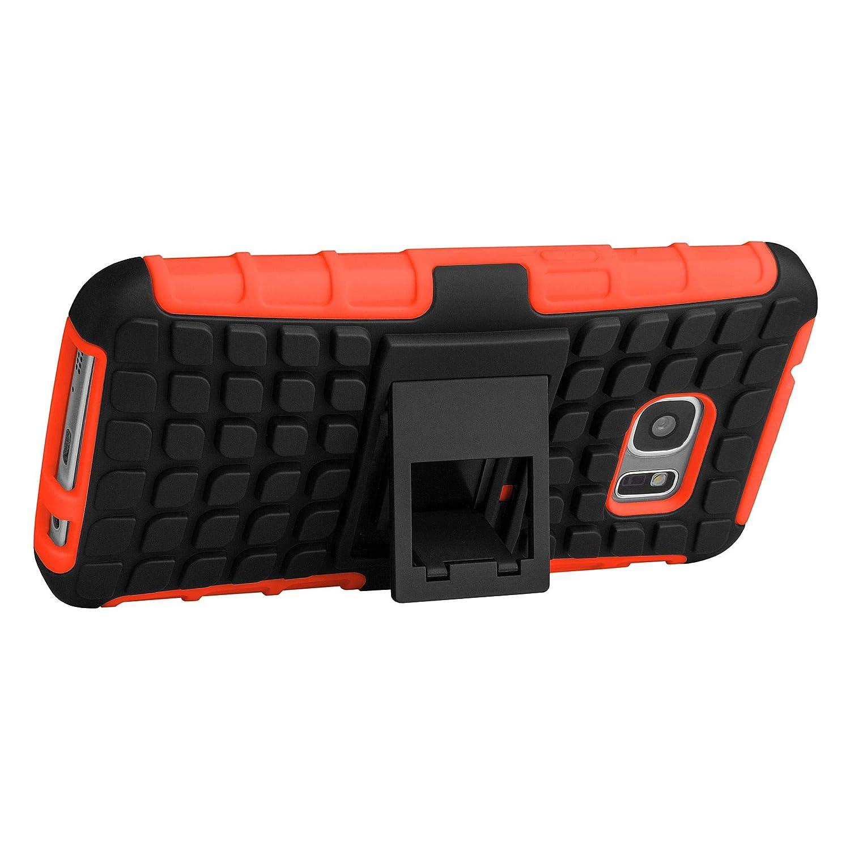 ECENCE Samsung Galaxy S7 G930 Hybrid Outdoor Funda Cover Coraza Protección Caja Caso Bumper Silicona Naranja 32020304: Amazon.es: Electrónica