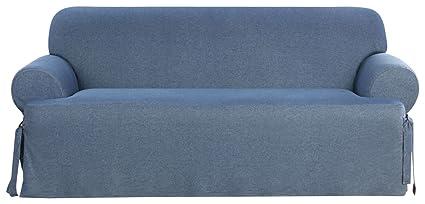 Amazon Com Surefit Denim T Cushion Sofa Slipcover Indigo Home