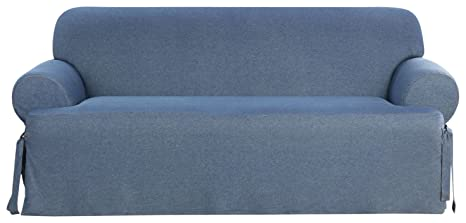Amazon Com Surefit Denim T Cushion Sofa Slipcover Indigo Home