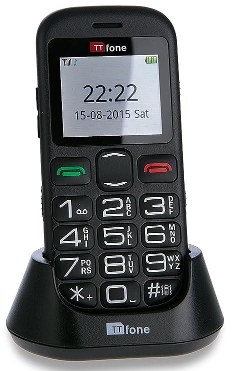 Ttfone Jupiter 2 Telefono Cellulare Con Tasti Grandi Nero Amazon