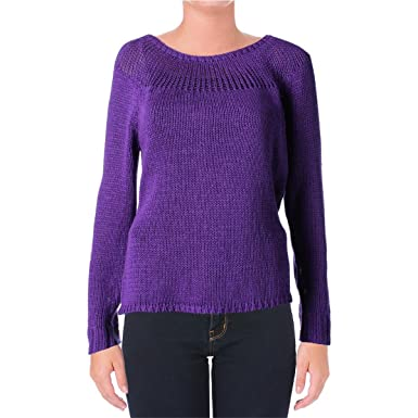 Lauren Ralph Lauren Women's Ribbed-Yoke Sweater (Small, Tempest Purple) at  Amazon Women's Clothing store: