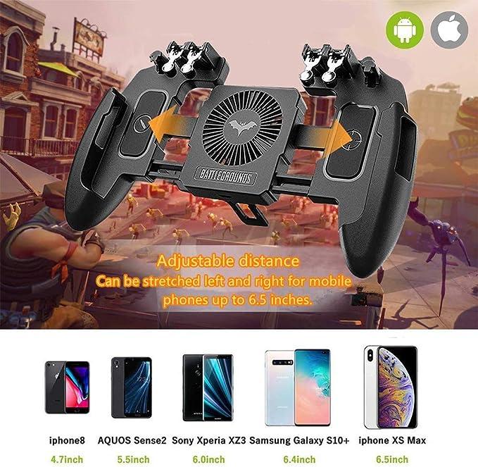 F-blue Tel/éfono m/óvil Gamepad Disparo de gatillo reemplazo del bot/ón de la Palanca de Mando del regulador del Juego Tirador PUBG reemplazo para Android