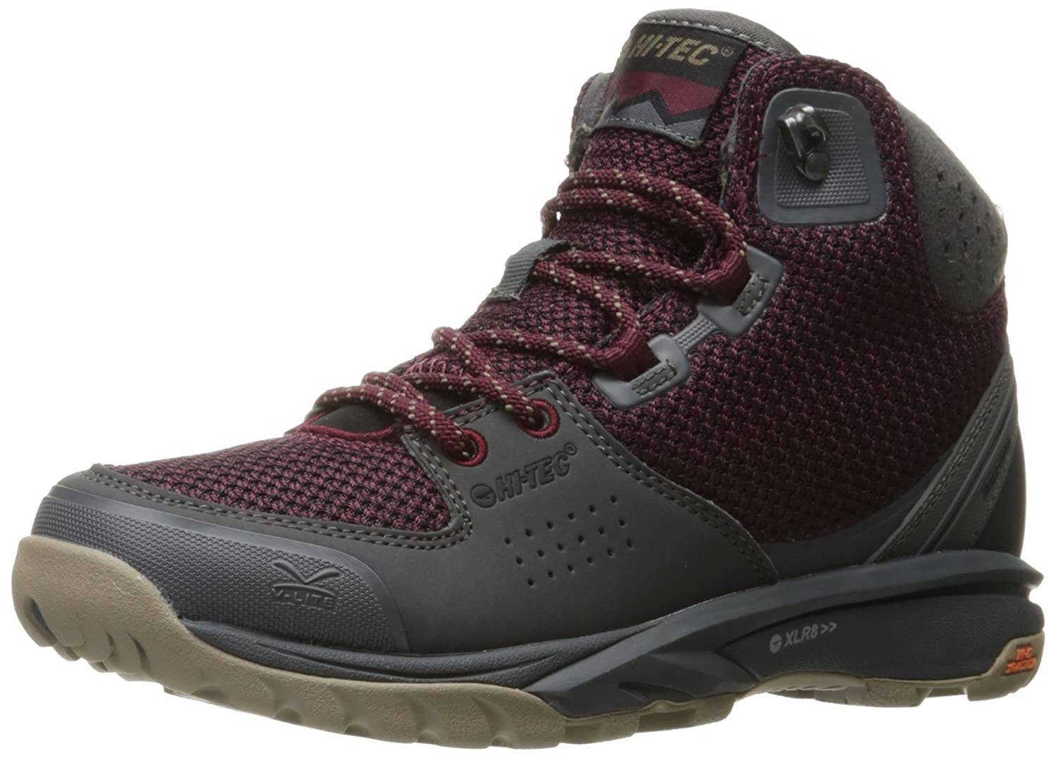 Hi-Tec Women's V-Lite Wildlife Mid i Backpacking Boot B01HNL2EVG 5 D US|Wine/Charcoal