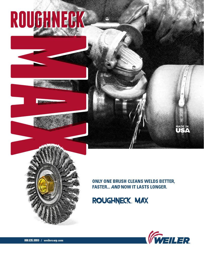 Weiler 13138 ROUGHNECK MAX 4'' Stringer Bead Wire Wheel.020'' Stainless Steel Fill, 5/8''-11 UNC Nut, Made in USA, Pack of 5 by Weiler (Image #3)