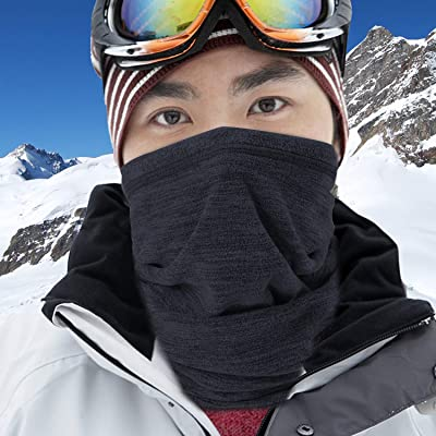 Kids Fleece Neck Gaiter Warmer Face Cover for Cold Weather Winter Outdoor Sports