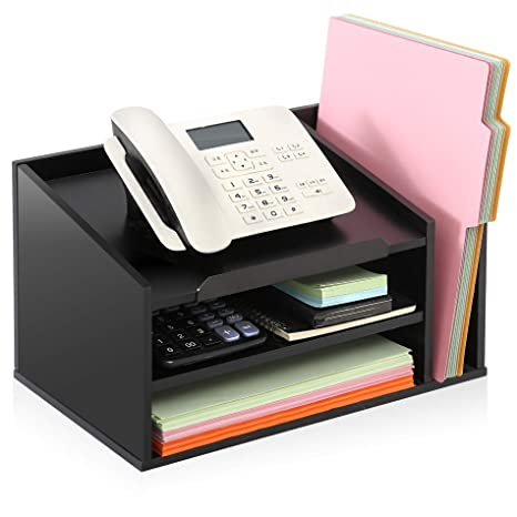 60 x Black A4 Letter Filing Office Stationary Desk Trays IN//OUT Risers 20 Sets