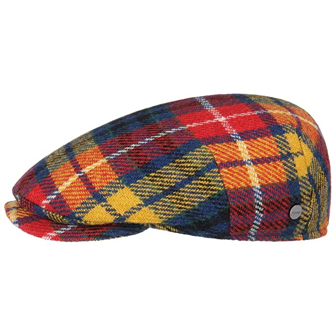 fdc0a6ba7986ab Lierys Capri Colour Harris Tweed Flat Cap by Men | Made in Italy Winter hat  Wool with Peak Autumn-Winter | 55 cm Mixed Colours: Amazon.co.uk: Clothing