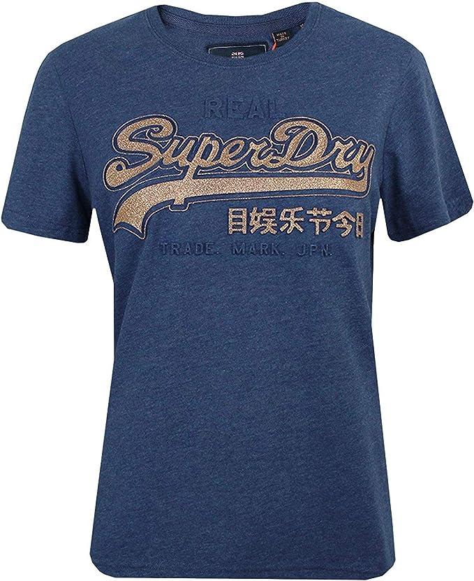 Superdry T Shirt Vintage Logo Femme Coral Rayé: